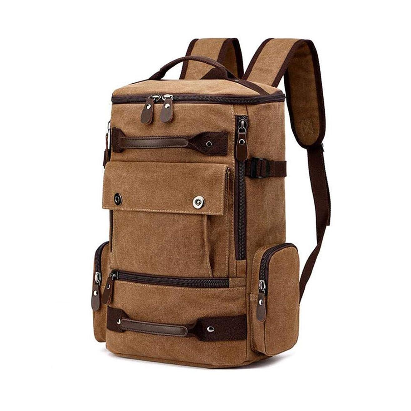 永続顧問積極的にバックパック、メンズレジャー大容量キャンバス旅行リュックサック屋外スポーツバッグ大容量多機能登山バッグ,A