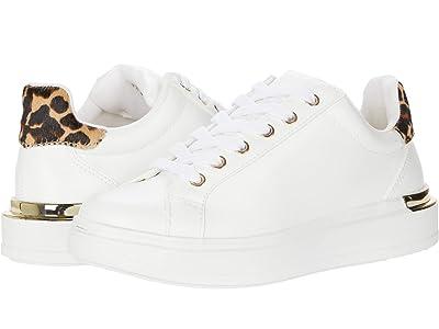 Steve Madden Jaxie Sneaker (White/Leopard) Women