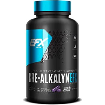 EFX Sports Kre-Alkalyn | PH-Correct Creatine Monohydrate | Multi-Patented Formula, Gain Strength, Build Muscle & Enhance Performance - 120 Capsules / 60 Servings…