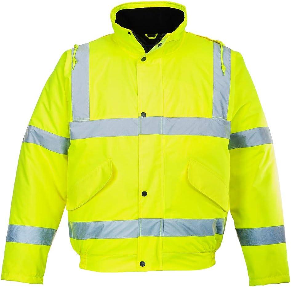 Portwest US463YER7XL Regular Fit Hi-Vis Bomber Jacket, 7X-Large, Yellow