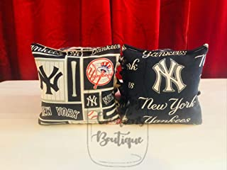 New York Yankees Cornhole Bags, 8 ACA Regulation Baseball Corn Hole, Bean Bags, Baggo Toss, Tailgate Game