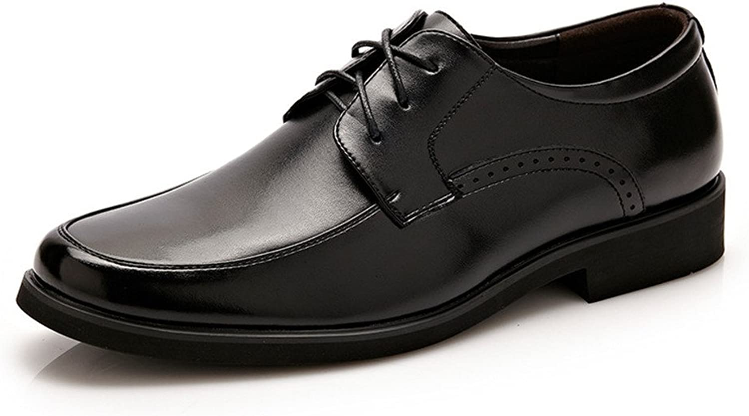 XIANGBAO-Personality Simple Men's PU Leather Business Oxfords Lace Up Formal Wedding Dress shoes