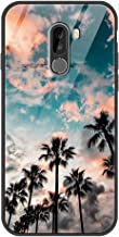 Eouine Xiaomi Pocophone F1 Case, [Anti-Scratch] Shockproof Patterned Tempered Glass Back Cover Case with Soft Silicone Bum...