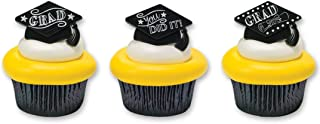 Graduation Party Favor Cupcake Topper Rings - 24 pc by Bakery Supplies