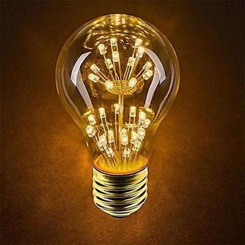 4 Packung Vintage Beleuchtung, VSOAIR 4 LED-Birnen mit 3W A60 Weinlese-Edison-Feuerwerk-dimmable Birnen-Beleuchtung-warmem Weiß 2200K