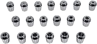 SANON 19 Piezas Kit de Mandril de Pinza Portabrocas de Roscado Accesorios de Mandril de Fresado para Torno de Fresado Er32...
