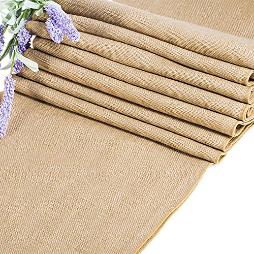 JJ PRIME - Hessian Table Runner with Storage Bag, Rustic Burlap Fabric Shabby Chic Jute Vintage Hessian Roll, Wedding Home Decoration and Christmas Table Decoration Long 9Mx29cm