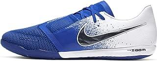 Nike Men's Zoom Phantom Venom PRO IC Soccer Shoes (White/Black-Racer Blue)
