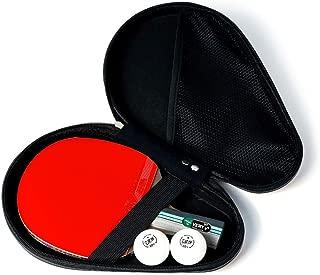 Table Tennis Paddle Professional - Paleta De Ping Pong con Estuche De Transporte - Goma Aprobada para Jugar En Torneos