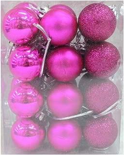 Ardorlove Christmas Ball Ornaments - Xmas Tree Pendant - Shatterproof Glitter Hanging Ball - Festival Widgets - Mini Ornaments for Party Decoration, 24pcs
