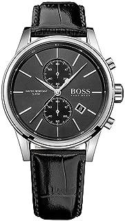 Hugo Boss Men's Chronograph Quartz Watch With Leather Strap – 1513279, Black Band