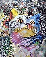 ジグソーパズル4000ピース子供大人の大きなジグソーパズルおもちゃギフトクリエイティブ減圧DIYチャレンジアート画像-カラー子猫の花