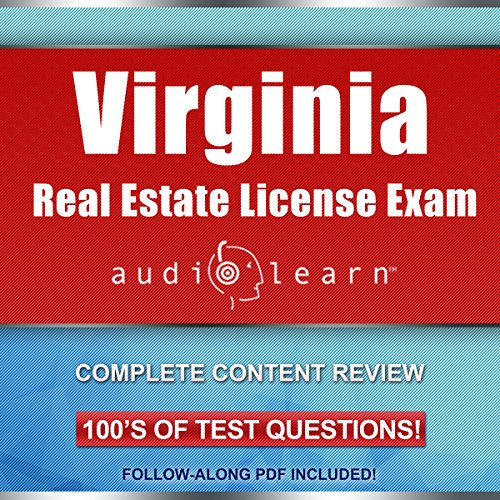 Virginia Real Estate License Exam AudioLearn - Complete Audio Review for the Real Estate License Examination in Virginia! audiobook cover art