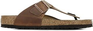 Birkenstock Men's Tongs Medina Cuir Gras Antique Brown Sandal