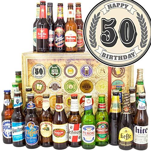 50. Geburtstag - 24 Biere aus aller Welt - Zum 50. Geburtstag - Biere der Welt Adventskalender