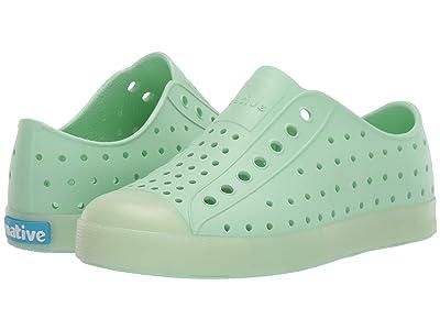 Native Kids Shoes Jefferson (Little Kid) (Celtuse Green/Glow) Girls Shoes