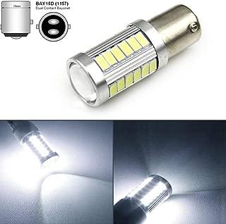 ROWEQPP LED 1156 1157 5730 5630 33SMD Car Tail Bulb Brake Lights Auto Reverse Lamp Daytime Running Light 1157-Yellow