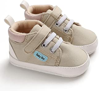 KaKaKiKi Baby Boys Girls Shoes High Top Soft Sole Infant Sneaker for 3-18 Months