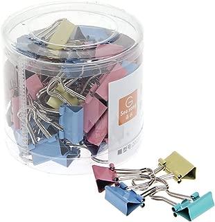 Bassk - Lote de 60 clips de clip para archivar o clips de escritorio, ancho de 15 mm