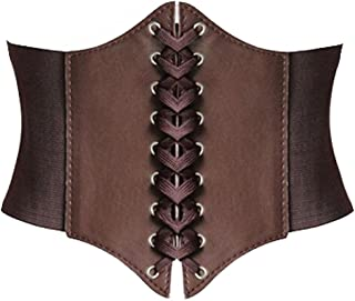 Alivila.Y Fashion Faux Leather Steampunk Sexy Underbust Waist Belt Corset