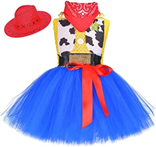 O'COCOLOUR Cowgirl Costume for Girls with Bandana 1-12Y Kids Jessie Dress Up Birthday Halloween Holiday Party