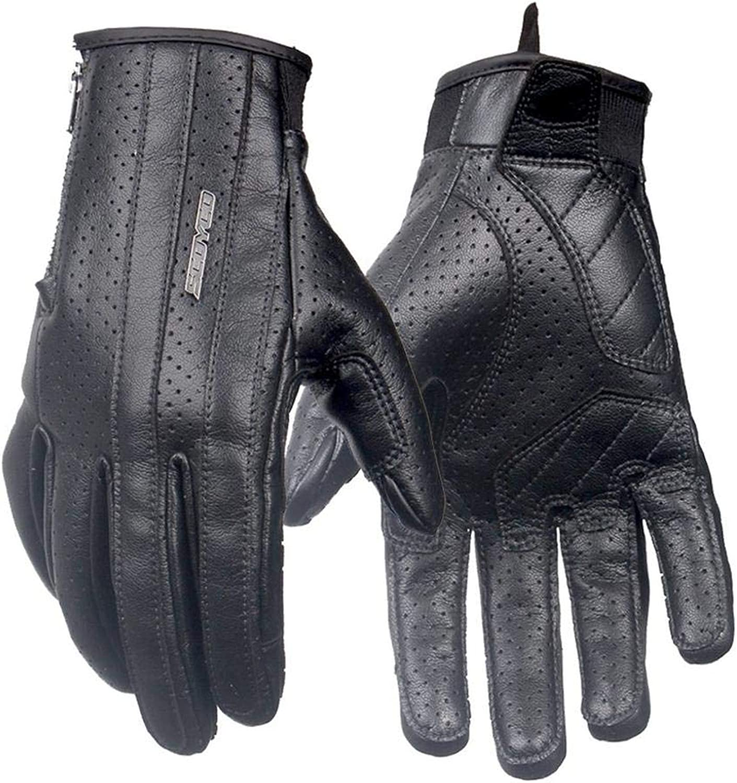 BMY Schwarz Radhandschuhe Vollfinger-Schutz Atmungsaktives Icrofiber-Leder Retro-Design Motorradfahren Touchscreen-Motocross-Schutzausrüstung
