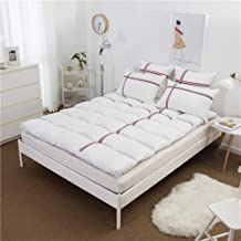 Down Mattress Toppers for Queen Bed,Thicken 10Cm White Goose Down Mattress Student Mattress Tatami Mattress,Can Be Used fo...