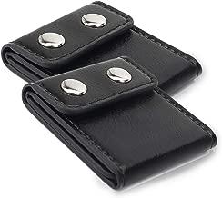Seatbelt Adjuster, FAOTUR Comfort Seat Belt Covers, Universal Auto Shoulder Neck Protector Strap Positioner Locking Clip for Adults/Kids - 2 Pack Black