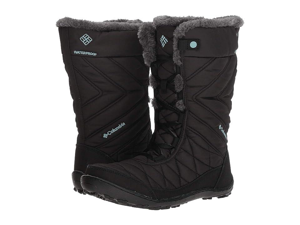 Columbia Kids Minxtm Mid III Waterproof Omni-Heattm (Little Kid/Big Kid) (Black/Iceberg) Girls Shoes