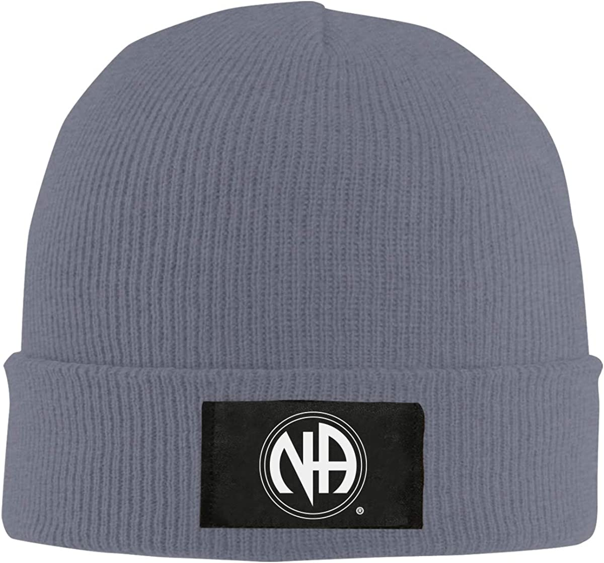 HUbGO Design Unisex Men Women Winter Na Logo Knit Hat Black