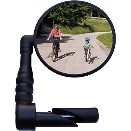 2pcs 360° Rotation Round Handlebar Glass Rear View Mirror for Road Bike Bicycle