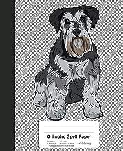 Grimoire Spell Paper: Book Miniature Schnauzer Dog (Weezag Grimoire Spell Paper Notebook)