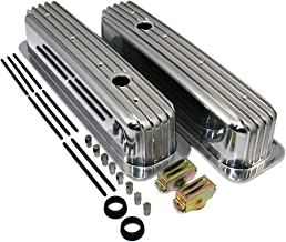 Assault Racing Products A6191 Small Block Chevy 350 Vortec TBI Finned Polished Aluminum Tall Style Valve Covers