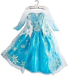DaHeng Girls Princess Fancy Cosplay Paty Dress Costume Blue