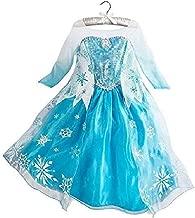 DaHeng Girls Princess Elsa Fancy Dress Costume Blue
