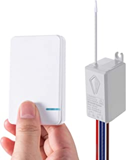 HENDUN Smart Wireless Light Switch Compatible with Alexa, Google Assistant, APP Remote Control with Timer for Ceiling Lamp...