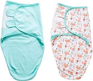 Baby Pucksack 2 Packungen Wickel Decke Schlafsack f/ür S/äuglinge Wickeldecke Babydecken 0-2 Monate