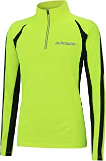 Airtracks termiczna koszulka funkcyjna do biegania z długim rękawem, dla kobiet i mężczyzn, koszulka funkcyjna, bluza z po...