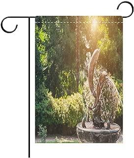 BEICICI Double Sided Premium Garden Flag Fountain in The Form of A Dolphin Statue in The Batumi Botanical Garden Batumi Adjara Georgia Decorative Deck, Patio, Porch, Balcony Backyard, Garden or Lawn