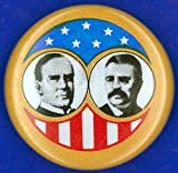Presidential Campaign1900 Nrepublican Campaign Button From The 1900 Presidential Election Featuring William Mckinley And Theodore Roosevelt Poster Print by (24 x 36)