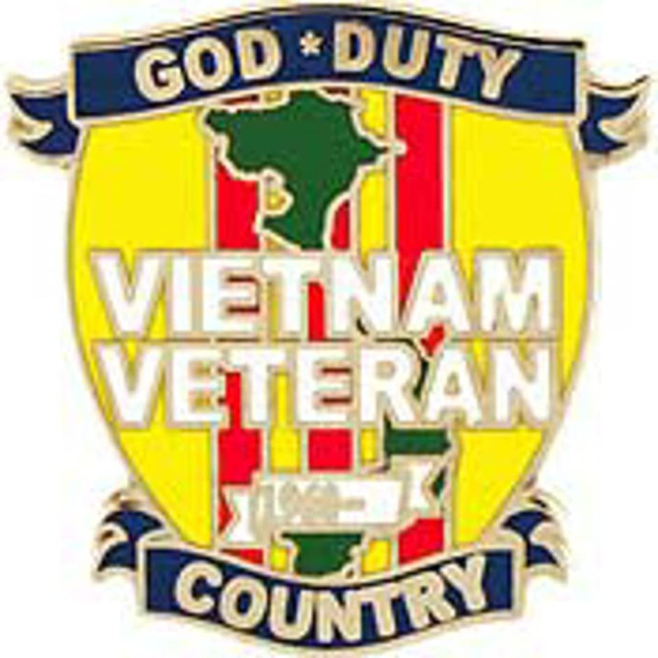 EagleEmblems P62375 Pin-Viet,God Duty Country (1'')