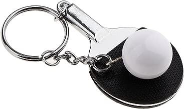 Ogquaton Mini porte-cl/és artificiel de sports de cha/îne principale de balle de tennis 3D pratique et pratique