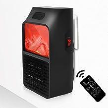 NBMN Estufa Eléctrica Calefactor 900W Calentamiento Cerámica PTC Enchufar Calentador Multifuncional Mini Portátil Handy Heater Baño Casa Oficina Enchufe UE