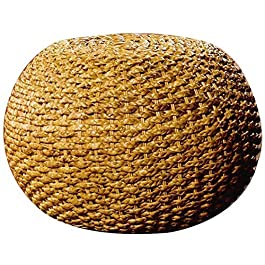A/N Ottoman Pouf Repose Banc Tabouret – Tabouret Balcon Rotin Tambour Simple Fashion Shoe Rotin-45 * 35cm