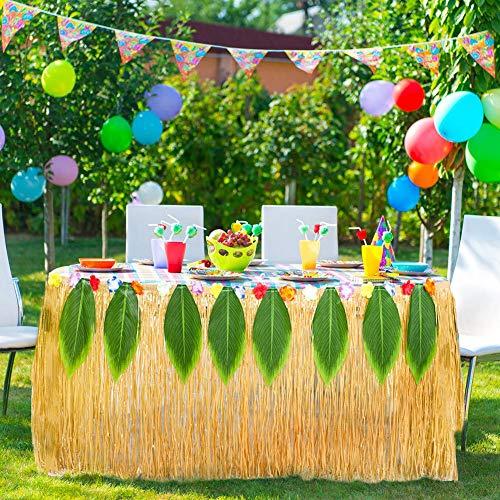 Wetour Falda de Mesa Hawaii, decoración de Fiesta Hawaiana, Falda ...
