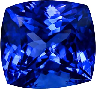 7.67 ct GIA CERTIFIED AAAA GRADE CUSHION CUT (11 x 11 mm) NATURAL D'BLOCK TANZANITE LOOSE GEMSTONE