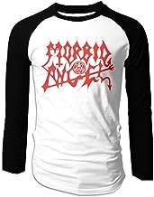 Yestrong Man Graphic of Morbid Angel Kingdoms Disdained Long Sleeve Raglan T Shirts