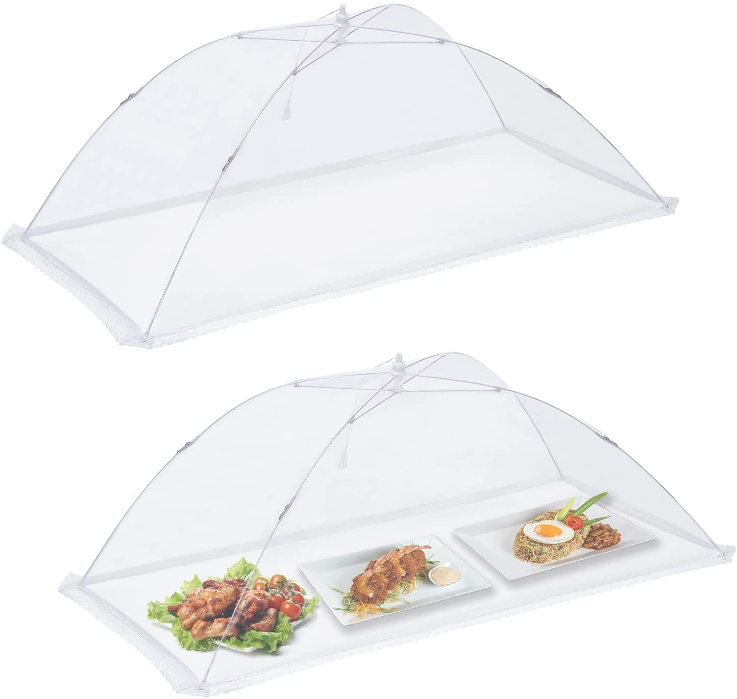 2 Pack Jumbo Food Cover Tent For Inflatable Bar - Extra Large(45.5