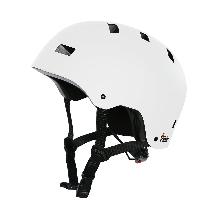 牛肉マザーランド会議Vihir スポーツヘルメット アイススケート スケートボード 自転車 登山 クライミング 保護用ヘルメット サイズ調整可能 子供大人兼用 全4色
