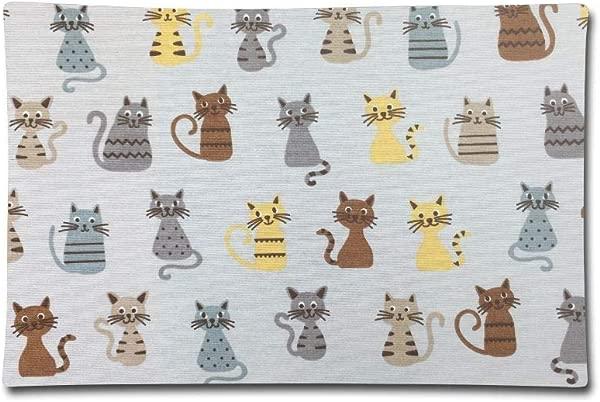 枕套 20X30 枕套新奇猫咪印花棉质标准保护套